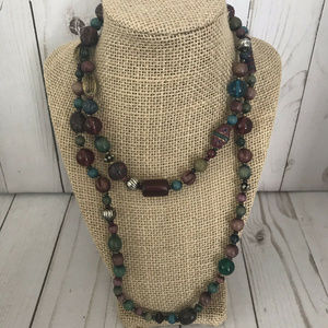 """Jewelry - Multicolor Beaded Long Necklace 42"""""""